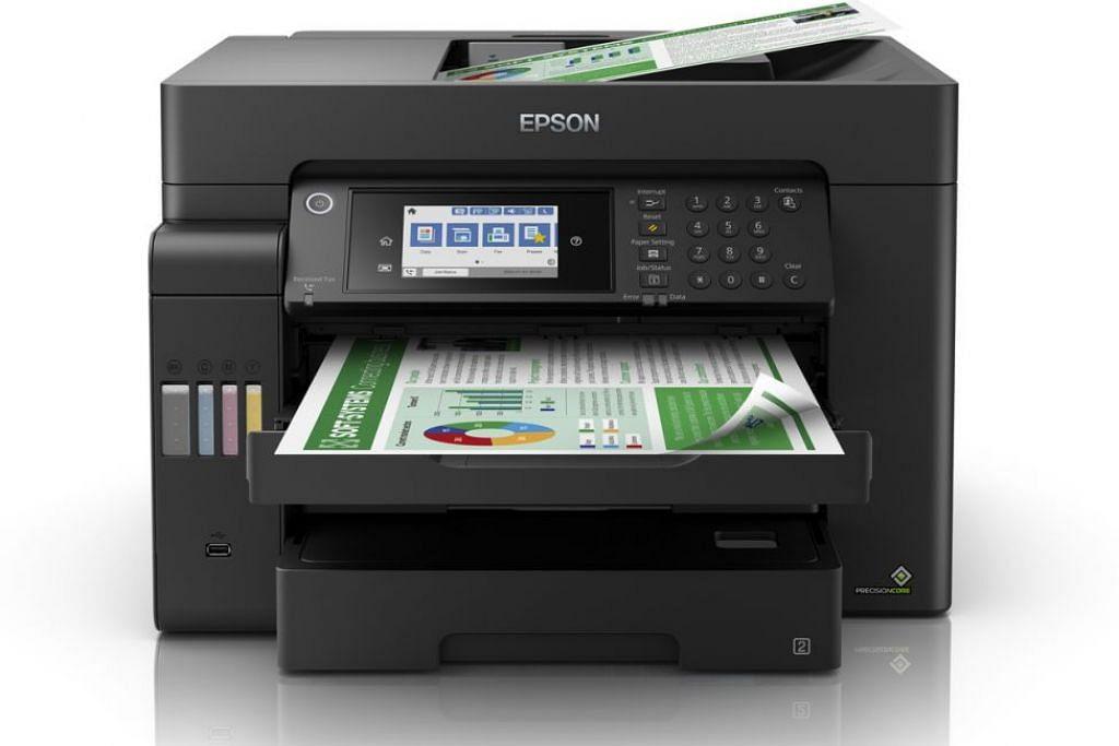 Epson EcoTank L15150, mesin pencetak yang boleh mengimbas, membuat salinan dokumen dan mengirim faks. - Foto-foto EPSON