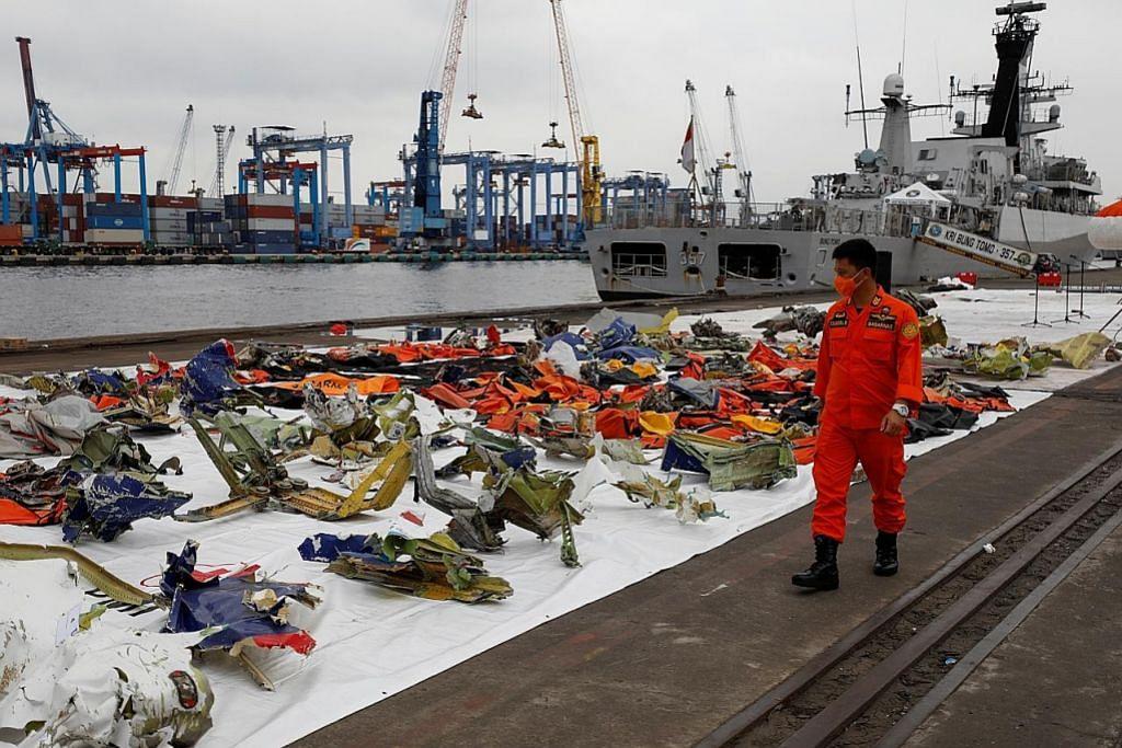 188 beg mayat berisi anggota badan mangsa pesawat Sriwijaya diterima