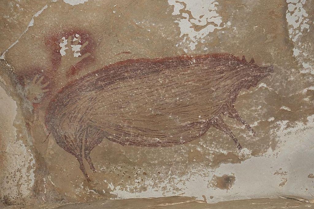 Lukisan gua tertua di dunia 45,500 tahun ditemui di Sulawesi