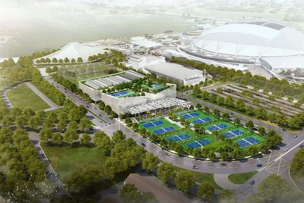 Pusat Tenis Kallang siap jelang akhir 2022