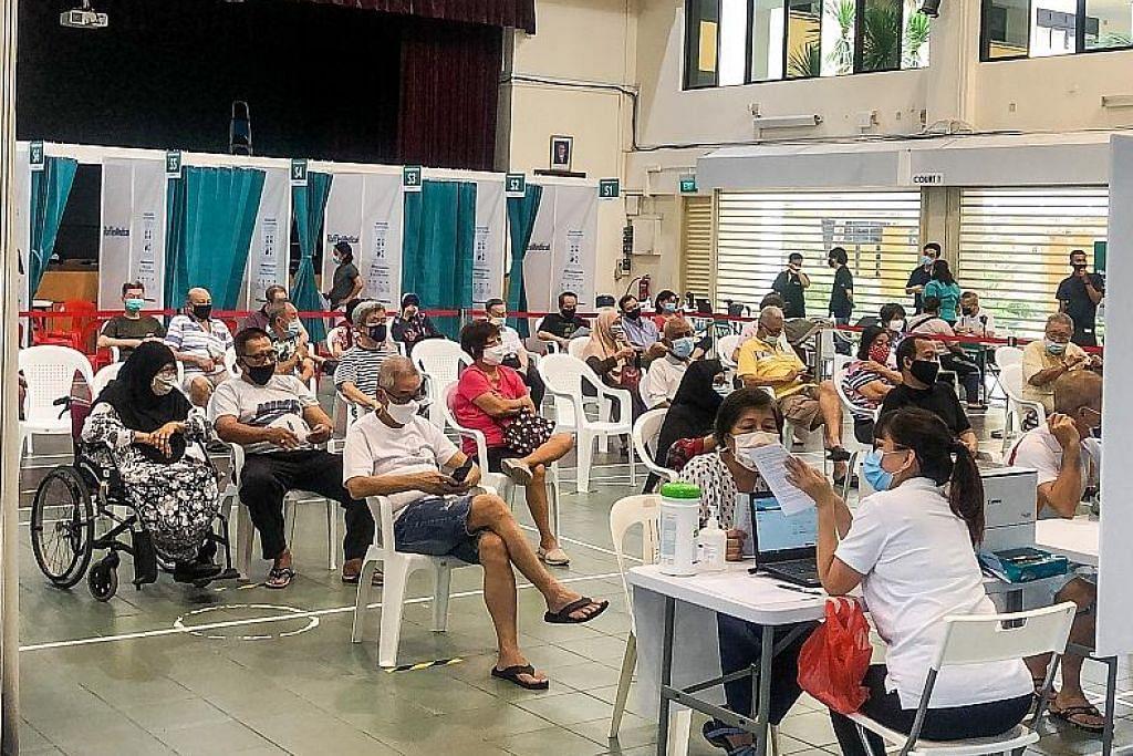 Proses vaksinasi SG dipergiat, 40 pusat vaksin tersedia Apr
