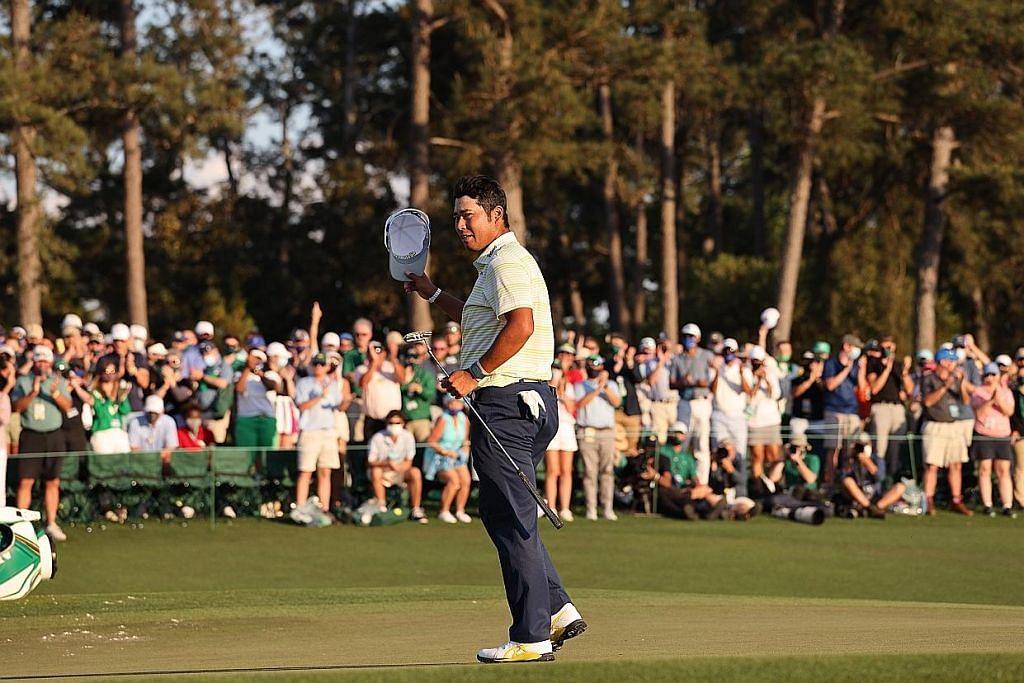 UNGGUL: Hideki Matsuyama (gambar atas) menjadi pemain golf pertama Jepun untuk menawan Augusta National, sekali gus bergelar juara Masters. - Foto EPA-EFE
