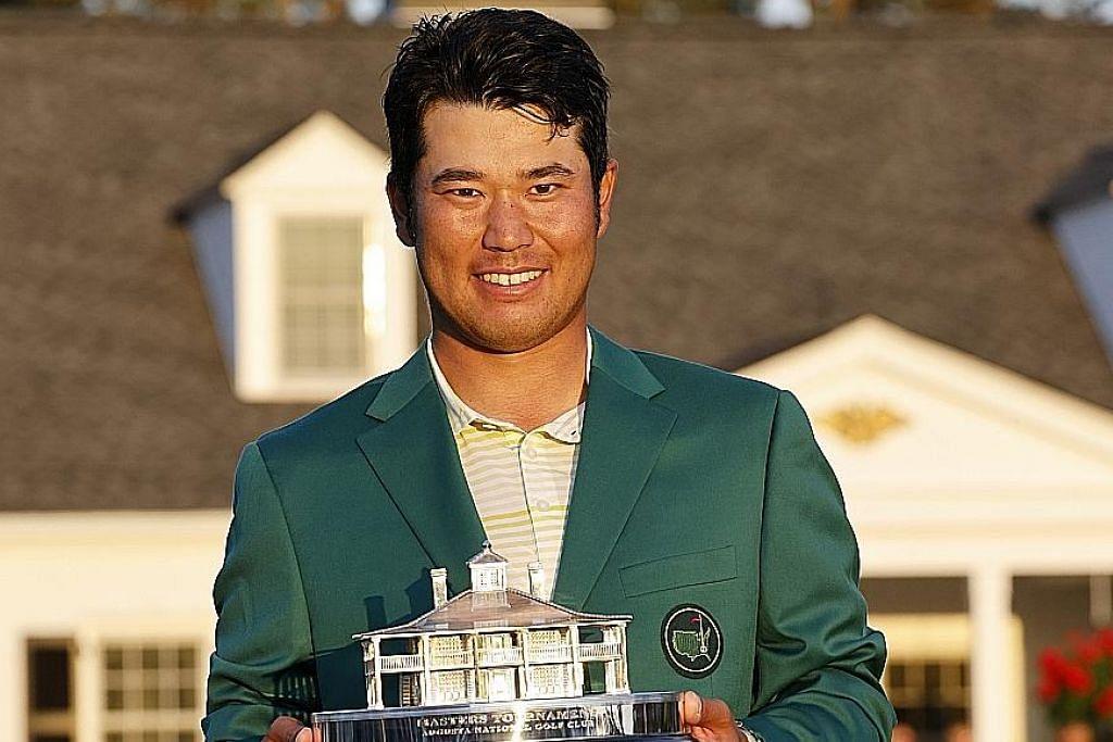 UNGGUL: Hideki Matsuyama (atas) menjadi pemain golf pertama Jepun untuk menawan Augusta National, sekali gus bergelar juara Masters. - Foto EPA-EFE