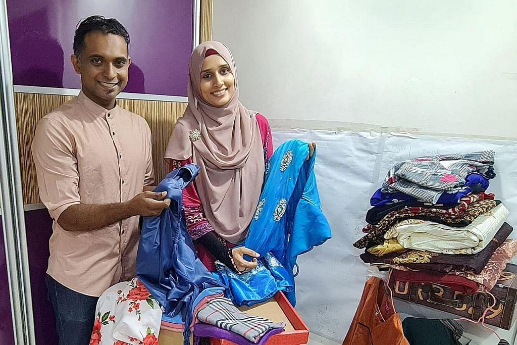 RENCANA MENJELANG RAYA Suami isteri edar pakaian Raya kepada keluarga memerlukan
