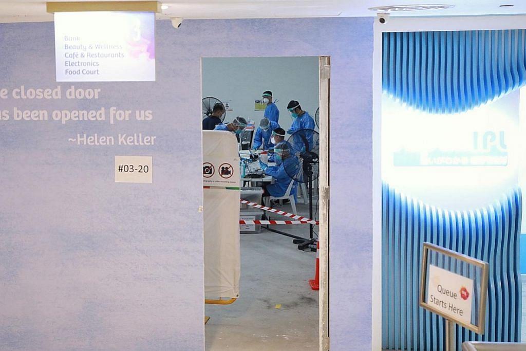 Pusat ujian swab Covid-19 didirikan di White Sands bagi staf, penyewa kedai