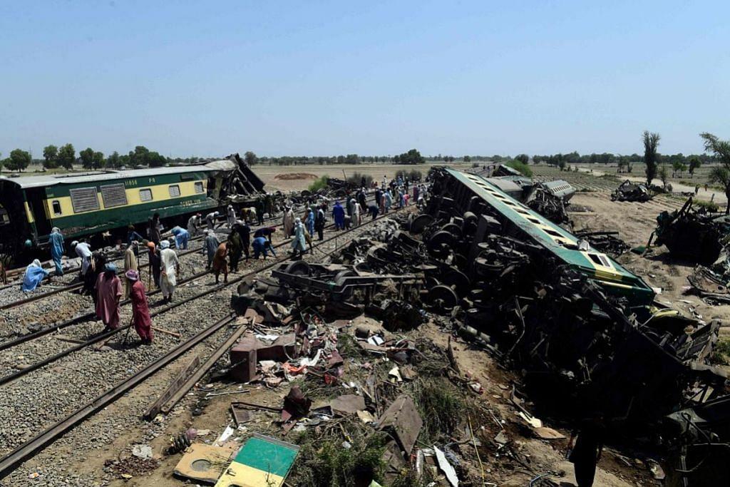 KEMALANGAN KERETA API DI PAKISTAN Kereta api mulakan perjalanan walau ada masalah rangkaian gerabak: Siasatan