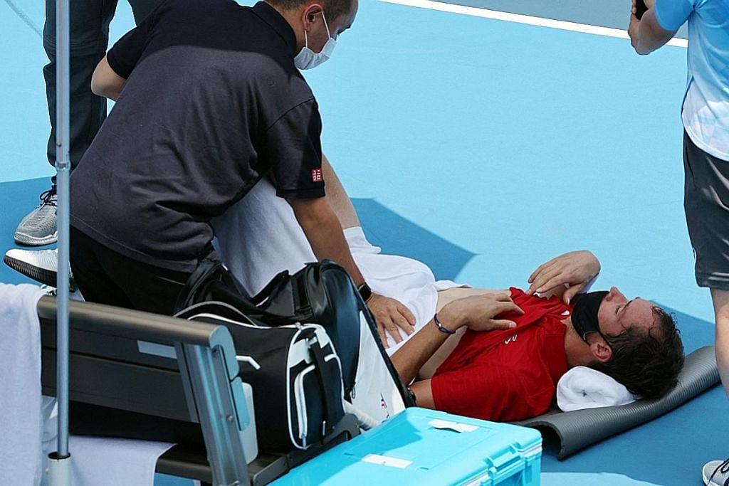 KALAU SAYA MAUT BAGAIMANA? Bahang bukan kepalang! Pemain tenis tak tahan!