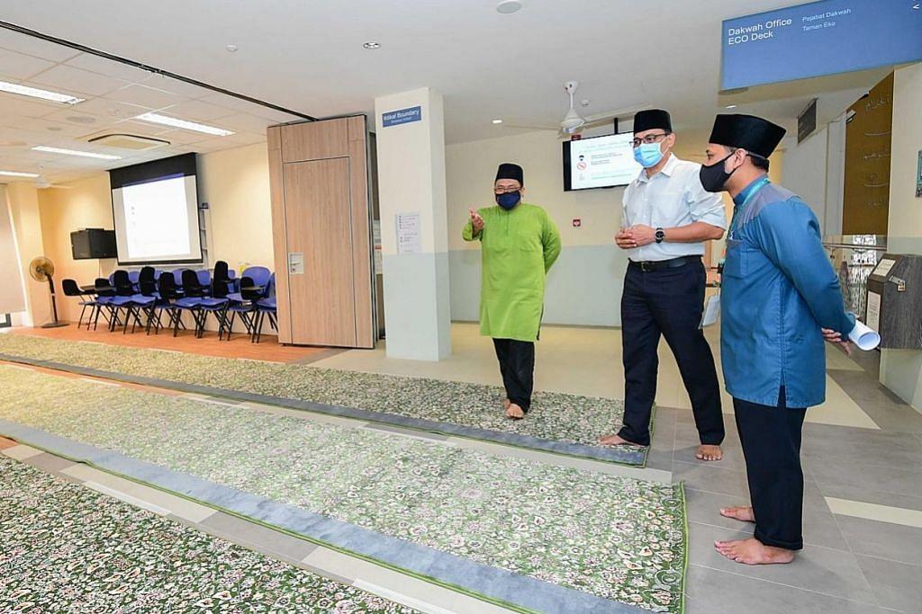 Lebih banyak ruang solat dapat disediakan hampir semua masjid