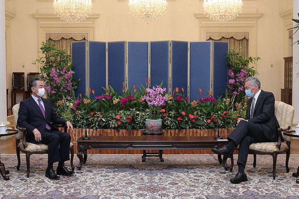PM Lee temui Menteri Luar China, perkukuh hubungan dua hala